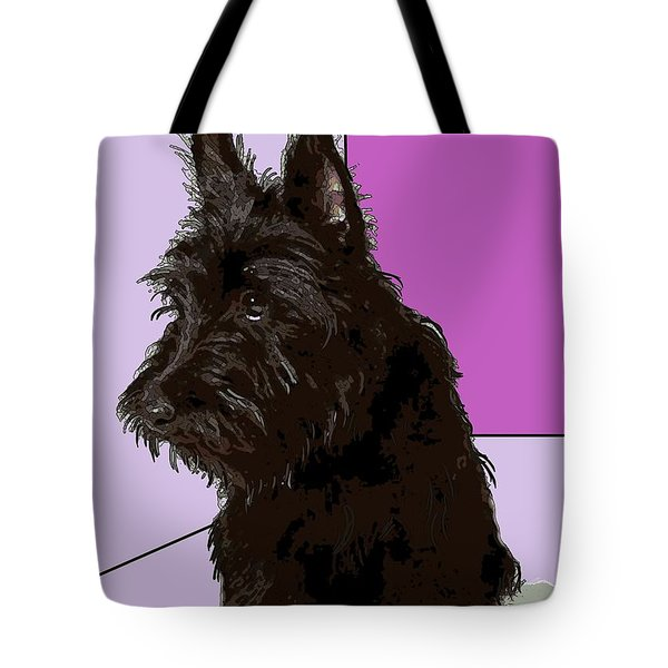 Scottish Terrier Tote Bag by George Pedro