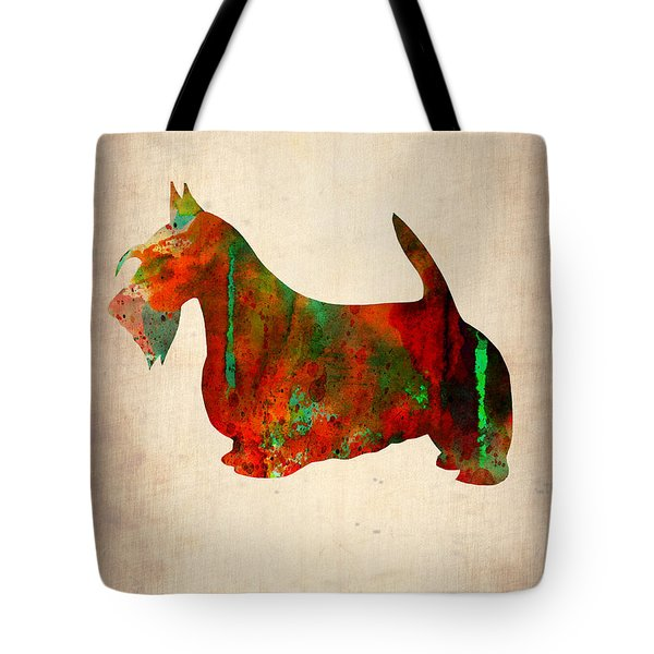 Scottish Terrier Watercolor 2 Tote Bag by Naxart Studio