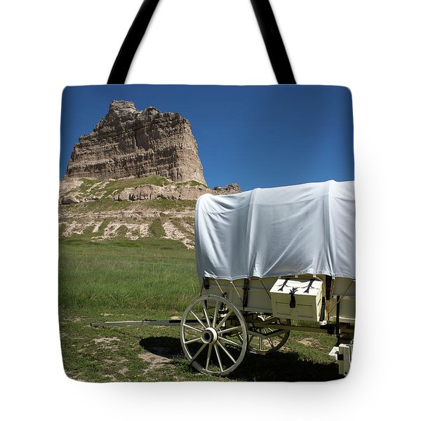 Tote Bag featuring the photograph Scotts Bluff National Monument Nebraska by Steven Frame