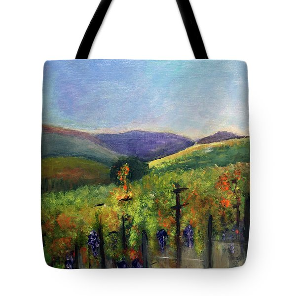 Scotts Vineyard Tote Bag by Donna Walsh