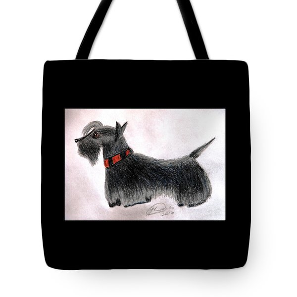 Scotty Elegance Tote Bag by Angela Davies
