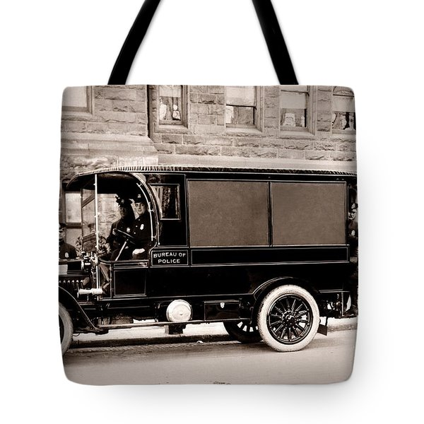 Scranton Pennsylvania  Bureau Of Police  Paddy Wagon  Early 1900s Tote Bag