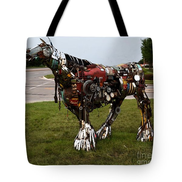 Scrap Horse Tote Bag by Mark McReynolds