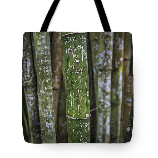 Scratched Bamboo Tote Bag