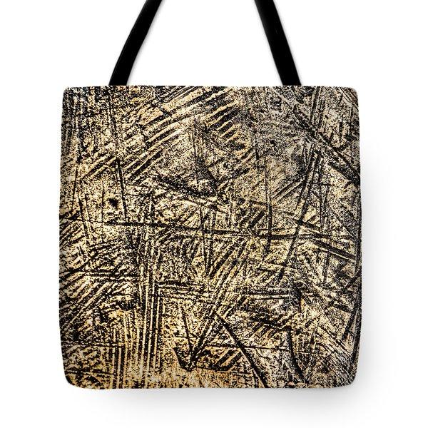 Scratched Copper Tote Bag