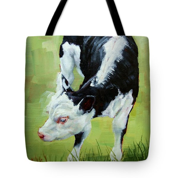 Scratching Calf Tote Bag by Margaret Stockdale