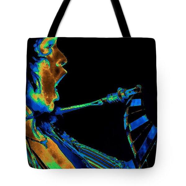 Screaming Cosmic Guitar Tote Bag by Ben Upham