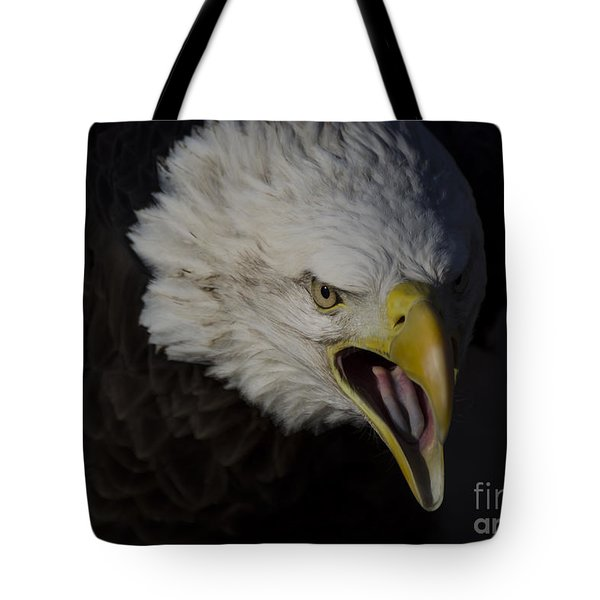 Screaming Eagle Tote Bag by Andrea Silies