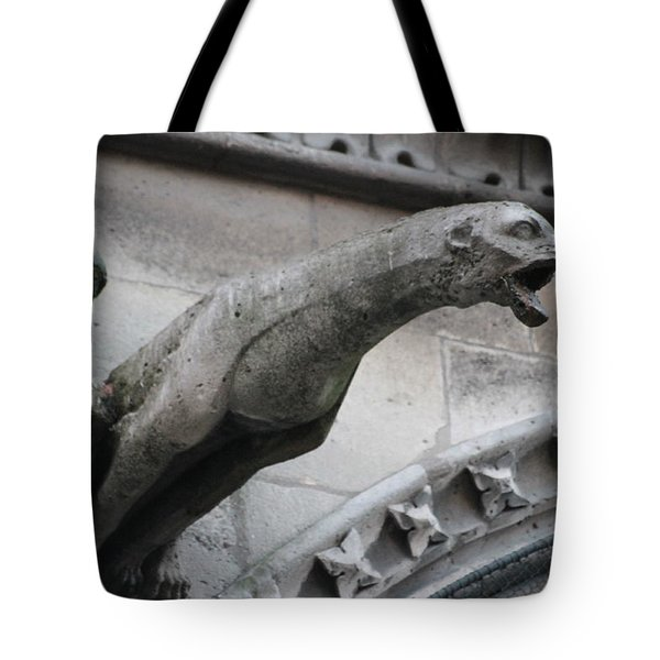 Screaming Griffon Notre Dame Paris Tote Bag