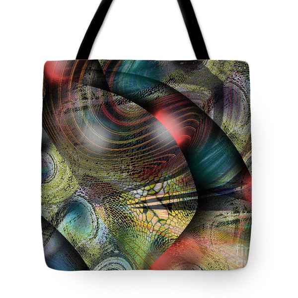 Screaming Spirals Tote Bag by Yul Olaivar