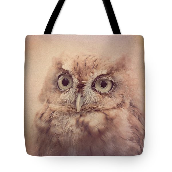 Tote Bag featuring the photograph Screech Owl 4 by Chris Scroggins