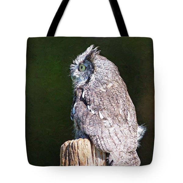 Screech Owl Profile Tote Bag