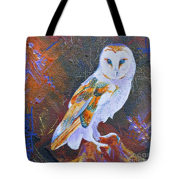 Screechy Tote Bag by Tracy L Teeter
