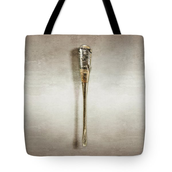 Tote Bag featuring the photograph Screwdriver With Tape Handle by YoPedro