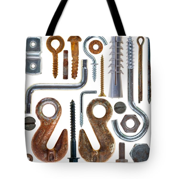 Screws, Nut Bolts, Nails And Hooks Tote Bag