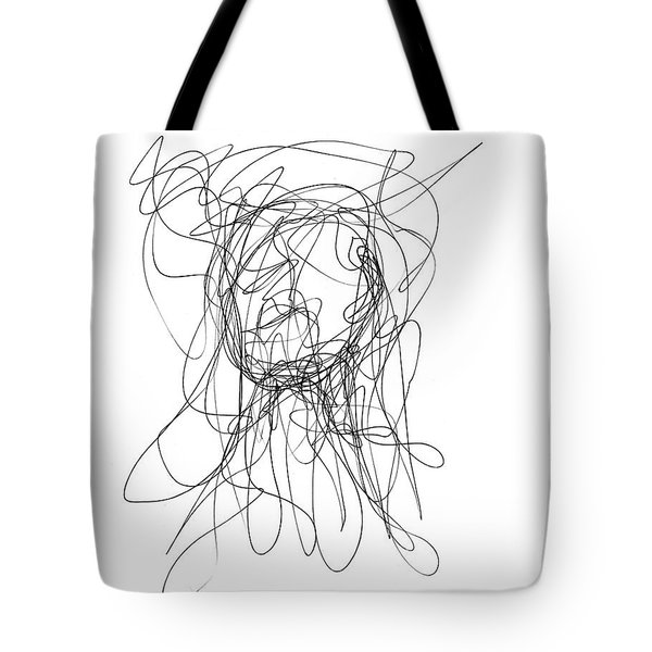 Scribble For Gusts, Dust, The Sun... Tote Bag by Ismael Cavazos