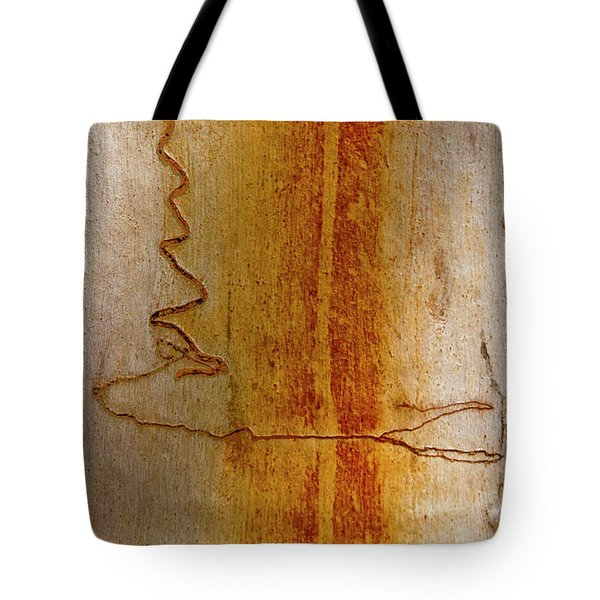 Tote Bag featuring the photograph Scribbly Gum Bark by Werner Padarin