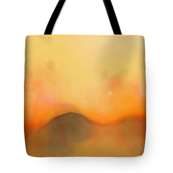 Tote Bag featuring the digital art Scrim by Gina Harrison