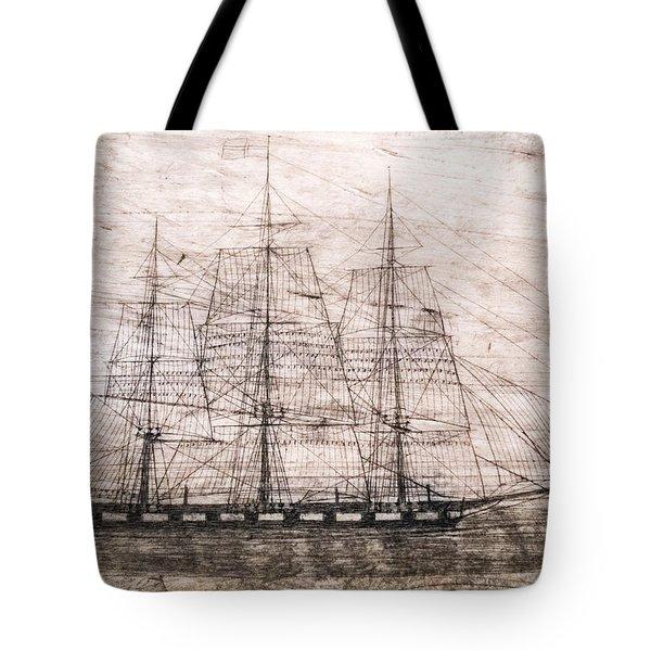 Scrimshaw Whale Panbone Tote Bag