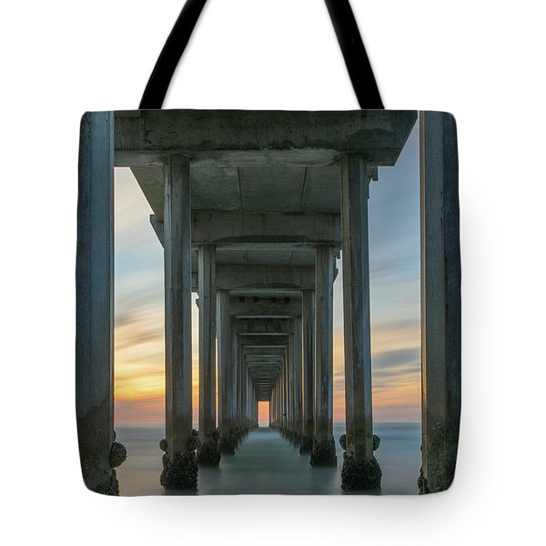 Scripps Pier Pillars  Tote Bag
