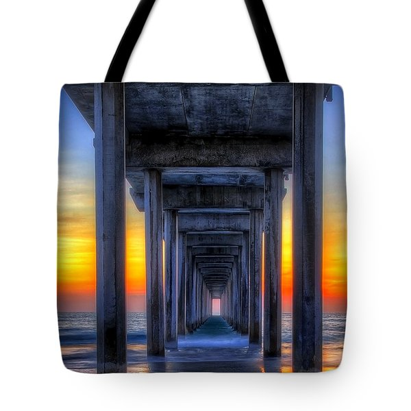 Scripp's Pier Sunset La Jolla California Tote Bag
