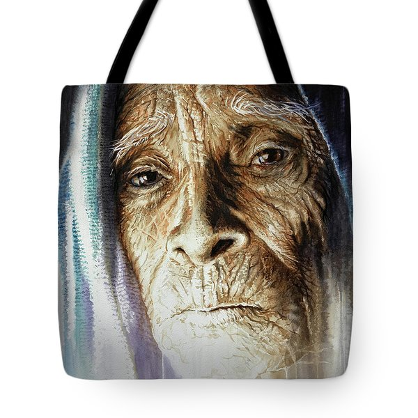 Tote Bag featuring the painting Scripts Of Ancestral Light  by J- J- Espinoza