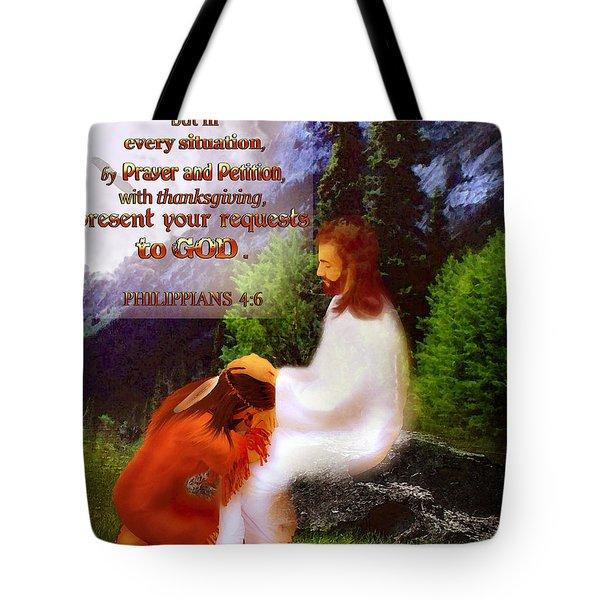 Scripture Art   Native Prayer Tote Bag