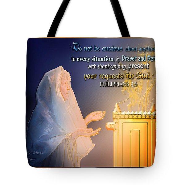 Scripture Art   Watchman's Prayer Tote Bag
