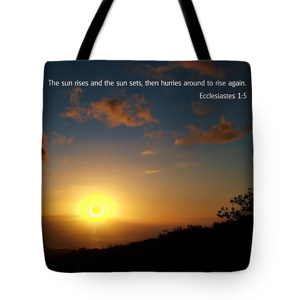 Scriture And Picture Ephesians 1 5 Tote Bag by Ken Smith