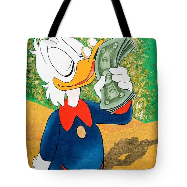 Scrooge Mcduck Kissing Money Tote Bag
