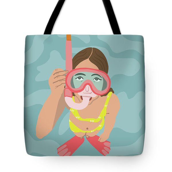 Scuba Girl Tote Bag