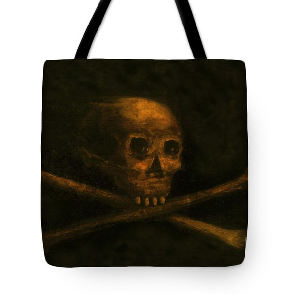 Scull And Crossbones Tote Bag by David Lee Thompson