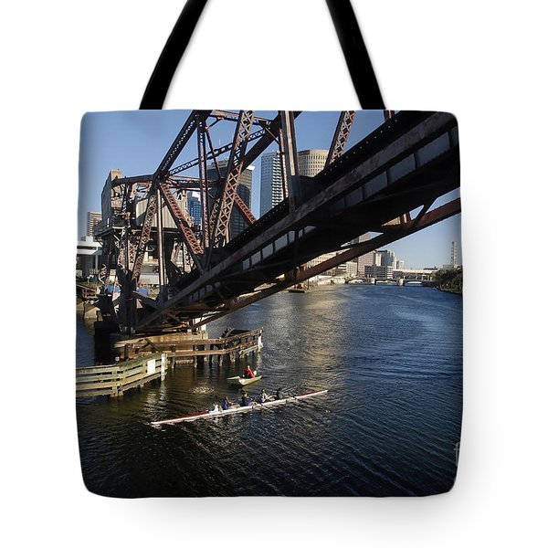 Sculling The Hillsborough Tote Bag by David Lee Thompson