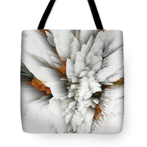 Tote Bag featuring the digital art Sculptural Series Digital Painting 05.072311 by Kris Haas