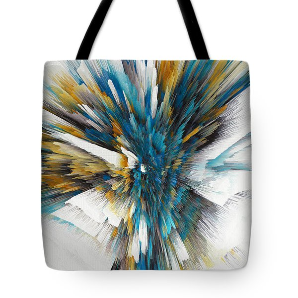Tote Bag featuring the painting Sculptural Series Digital Painting 08.072311ex490l by Kris Haas