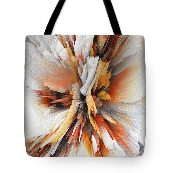Tote Bag featuring the digital art Sculptural Series Digital Painting 22.120210eext290lsqx2 by Kris Haas