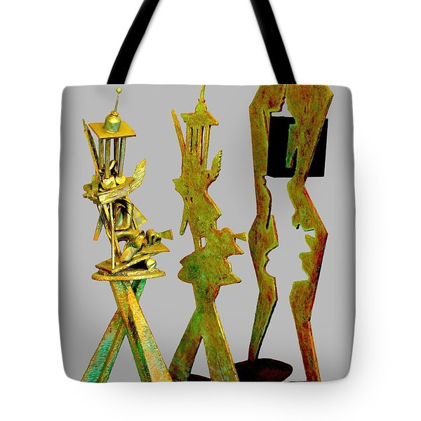 Sculptural Suite In Three Movements Tote Bag by Al Goldfarb