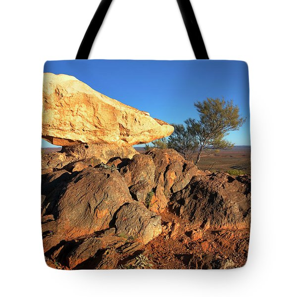 Tote Bag featuring the photograph Sculpture Park Broken Hill by Bill Robinson