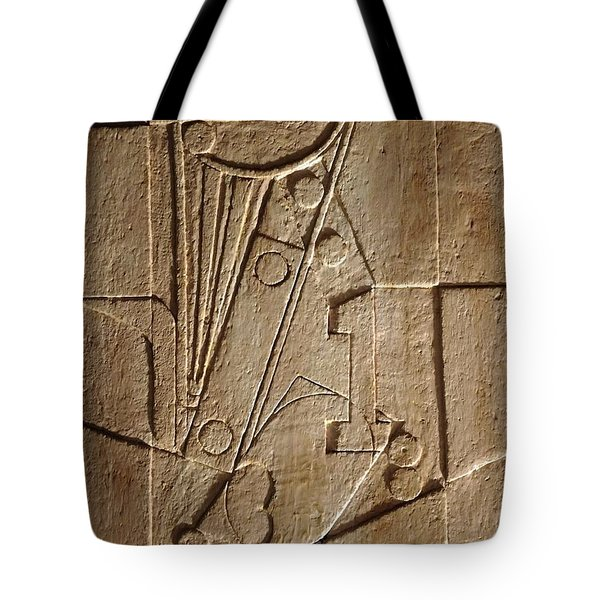 Sculptured Panel - Influenced By Picasso's Painting Having The Number 1 Tote Bag