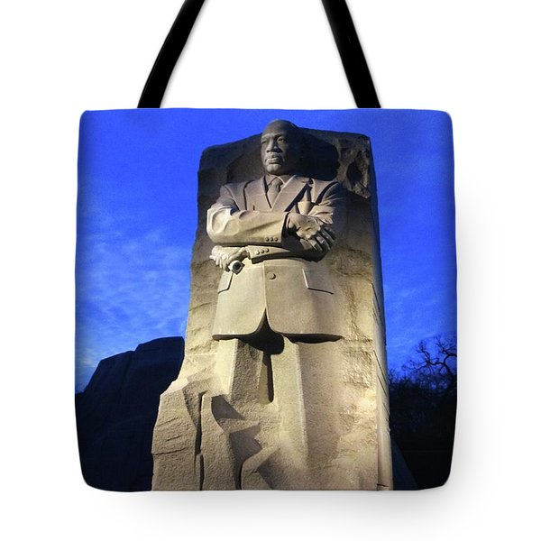 Sculptured Profile Martin Luther King Jr. Tote Bag
