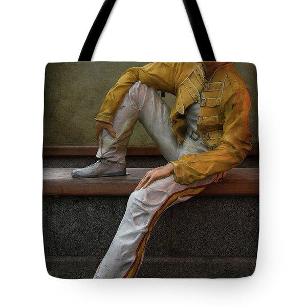 Tote Bag featuring the photograph Sculptures Of Sankt Petersburg - Freddie Mercury by Jaroslaw Blaminsky