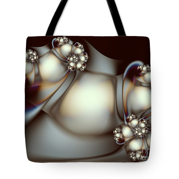 Tote Bag featuring the digital art Sculpture by Karin Kuhlmann