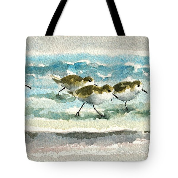 Scurrying Along The Shoreline 2  1-6-16 Tote Bag