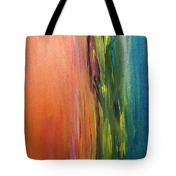 Sea And Sky Metallic Tote Bag