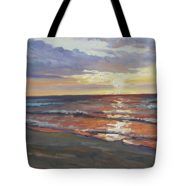 Sea Beach 8 - Baltic Sunset Tote Bag