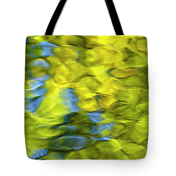 Sea Breeze Mosaic Abstract Tote Bag