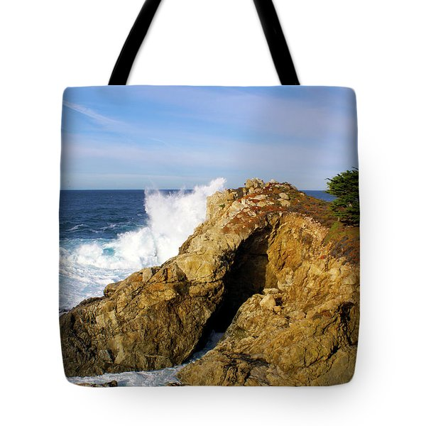Tote Bag featuring the photograph Sea Cave Big Sur by Floyd Snyder