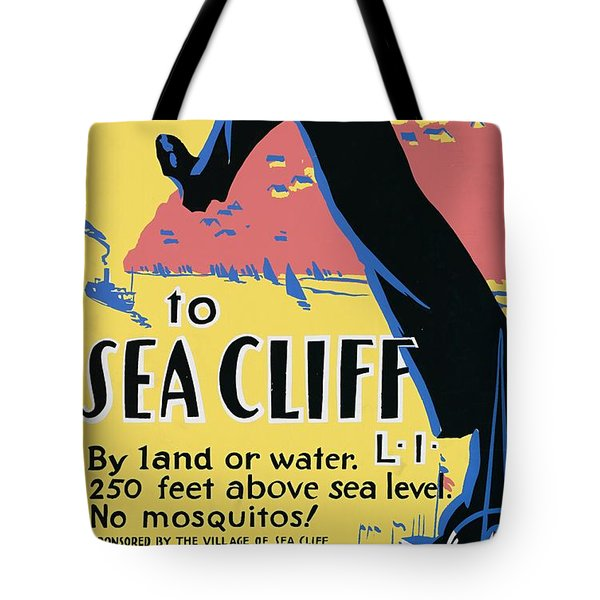 Sea Cliff Long Island Poster 1939 Tote Bag