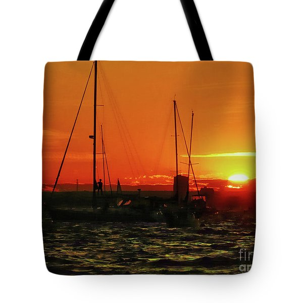 Sea Cliff Sunset Tote Bag