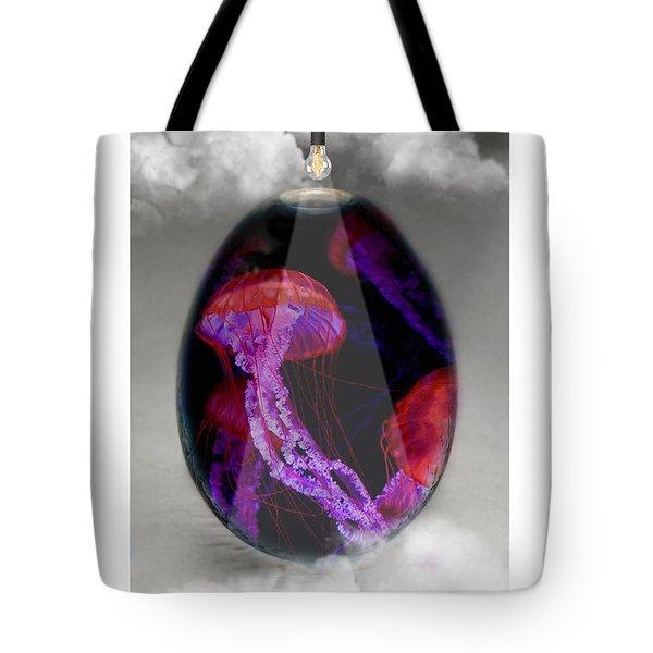 Sea Creature Jellyfish Art Tote Bag
